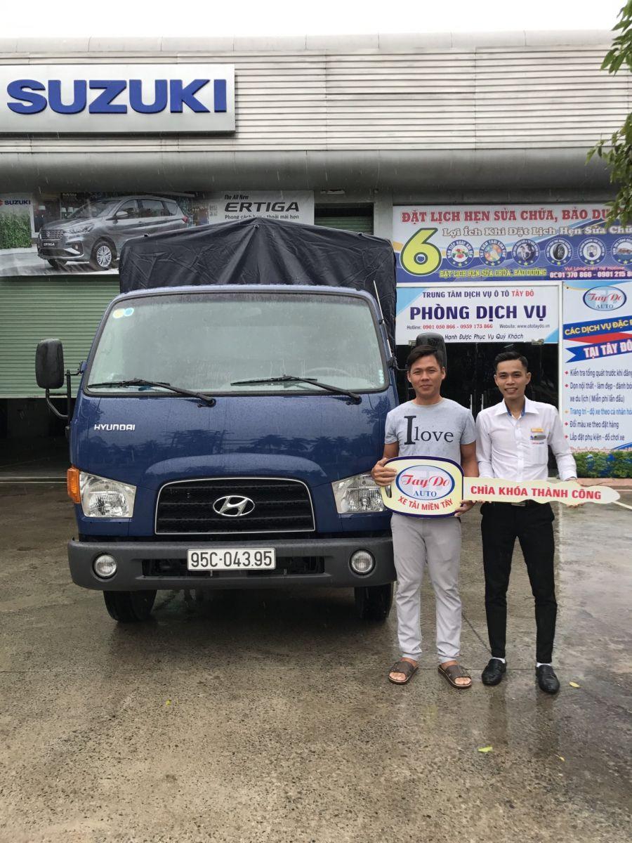 Anh Hải với nhu cầu mua xe tải nhẹ nên đã quyết định chọn mua xe tải Hyundai tại đại lý Hyundai Miền Nam